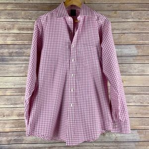 Brooks Brothers Non Iron Gingham Button Down Shirt